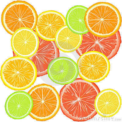 Background with citric fruits