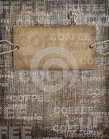 Background coffee texture vintage burlap