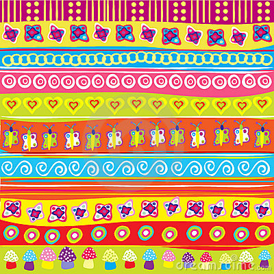 Background With Colored Doodle Elements Stock Photo ...