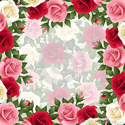 Background with colored roses.