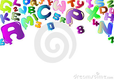 Background with colorful balloons in the shape of