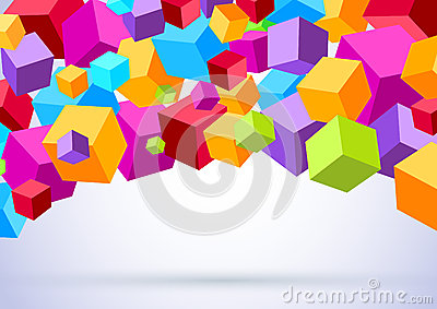 Background with colorful cubes