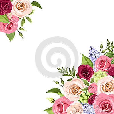 background with colorful roses vector illustration stock hydrangea clip art free hydrangea clipart border