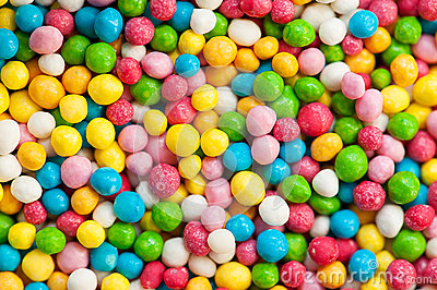 Background of colorful sugar balls