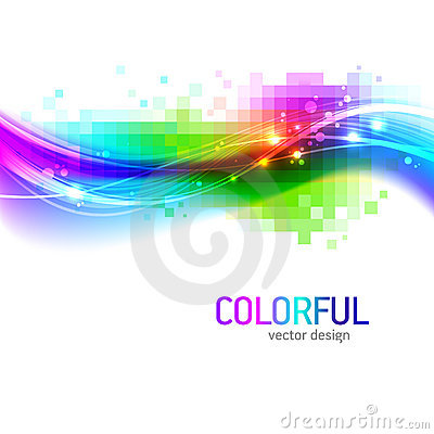 Background with colorful wave