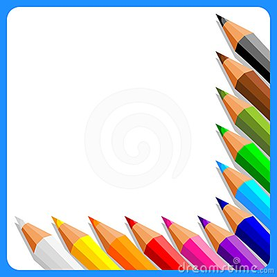 Background With Crayons Royalty Free Stock Photo - Image: 24519635