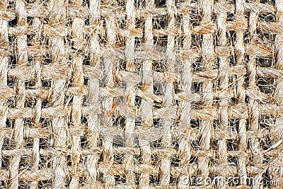 Background of crumpled burlap