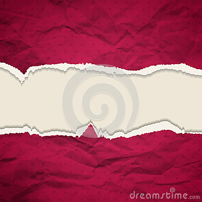 Background Crumpled  torn paper background