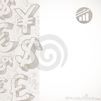 Background with currency signs