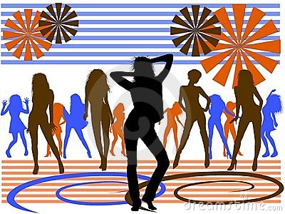 Background of dancing girls