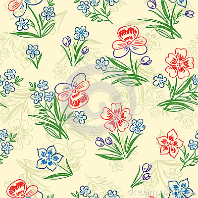 Background with a decorative bouquets