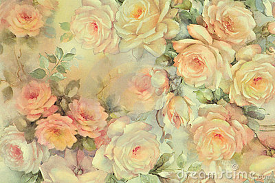 Background of delicate roses