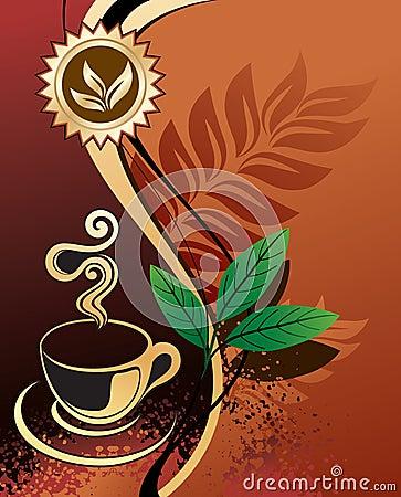 Background for design - black tea