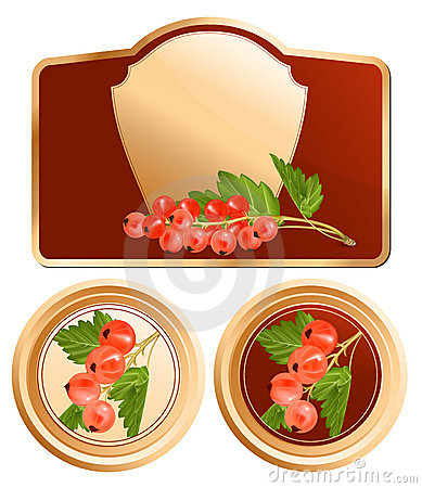 Background for design of packing. Jam jar