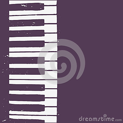 Background design with piano keyboard