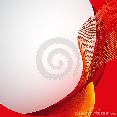 Free Background Design With Abstract Red And Yellow Wavy Lines Stock Images - 100859064