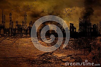 Background - Destroyed City