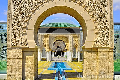 Background detail Moroccan gate entrance