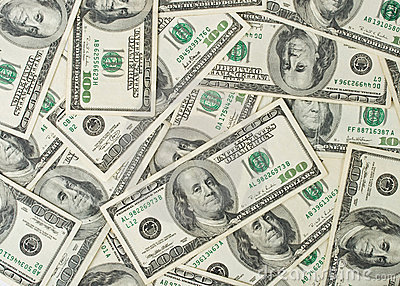 Background from dollar banknotes
