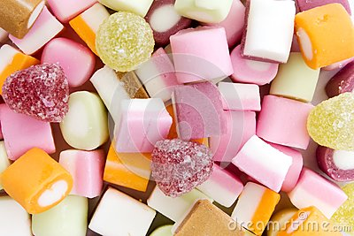Background of dolly mixture sweets