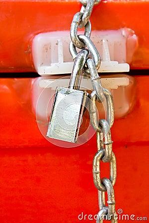 Background of door with lock