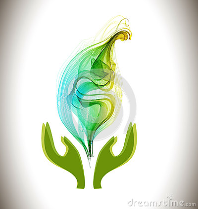 Background with ecological environment icon