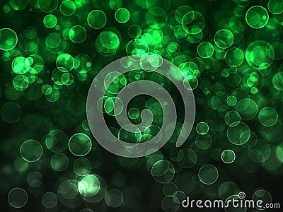 Background Effect in Green Bokeh