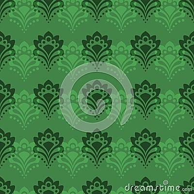 Background - Emerald Flowers