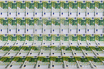 Background with euro bills