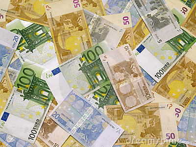 Background euro money