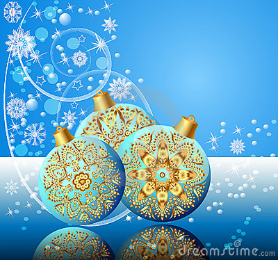 Background with festive ball