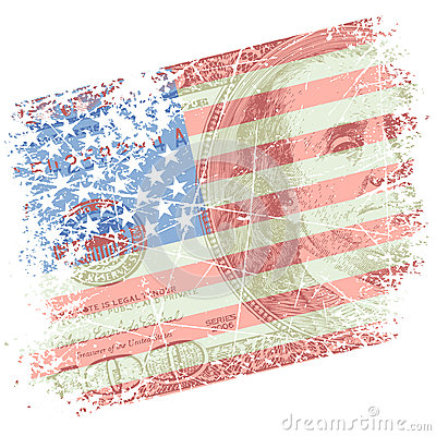 Background with flag