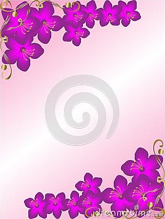 Background floral corner border
