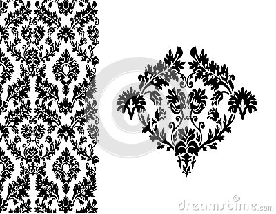 Background floral vintage vector