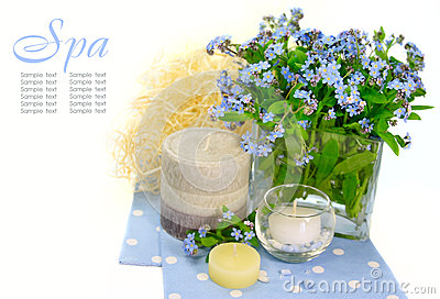 Background with flowers. spa