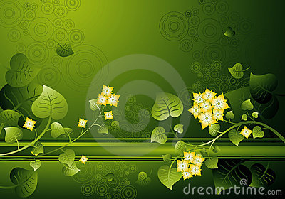 Background of flowers,vector