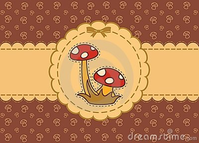 Background with fly-agaric