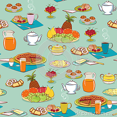 Background with food for breakfast