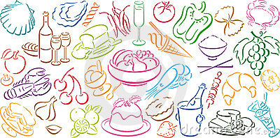 Background with food symbols