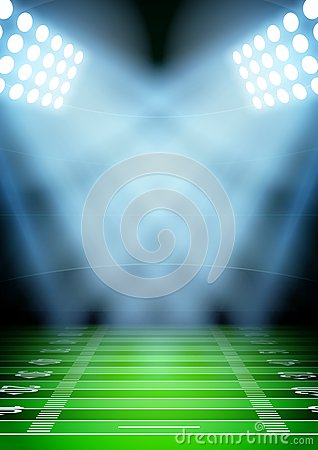 Free Background For Posters Night Football Stadium In Royalty Free Stock Photos - 45317698