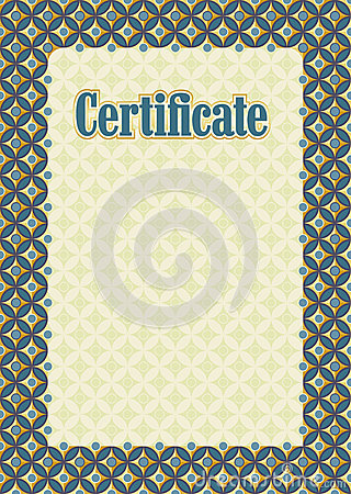Background frame certificate