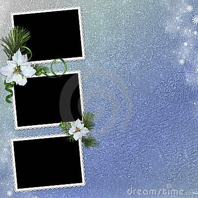 Background with frames and christmas star