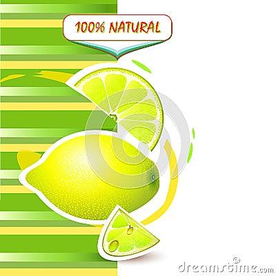Background with fresh lemon