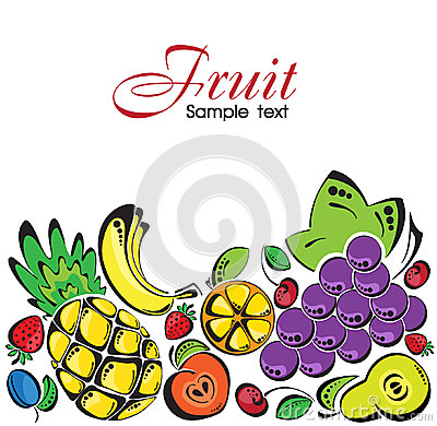 Background with fruit