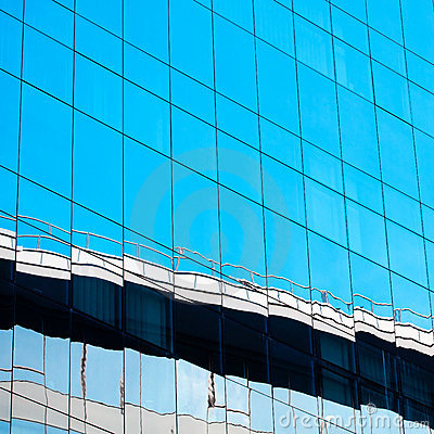 Background of glass modern office building