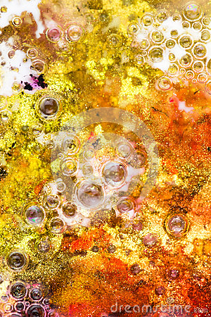 Background of glitter and bubbles