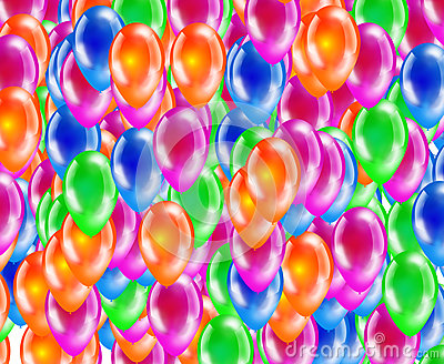 Background of glossy colored balloons.