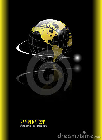 Background with gold globe