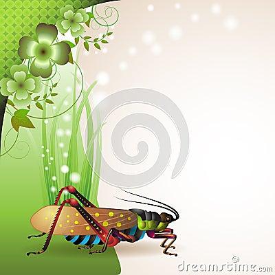 Background with grasshopper