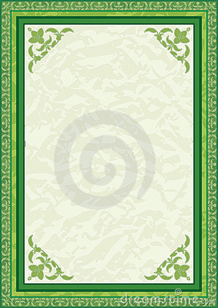 Background in green
